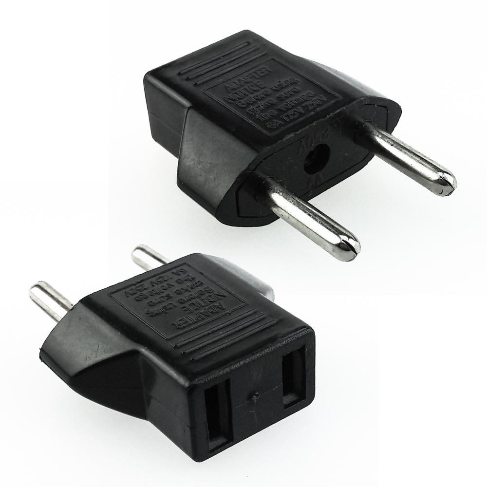 usa zu to eu euro strom power adapter stecker konverter reisestecker europa ebay. Black Bedroom Furniture Sets. Home Design Ideas