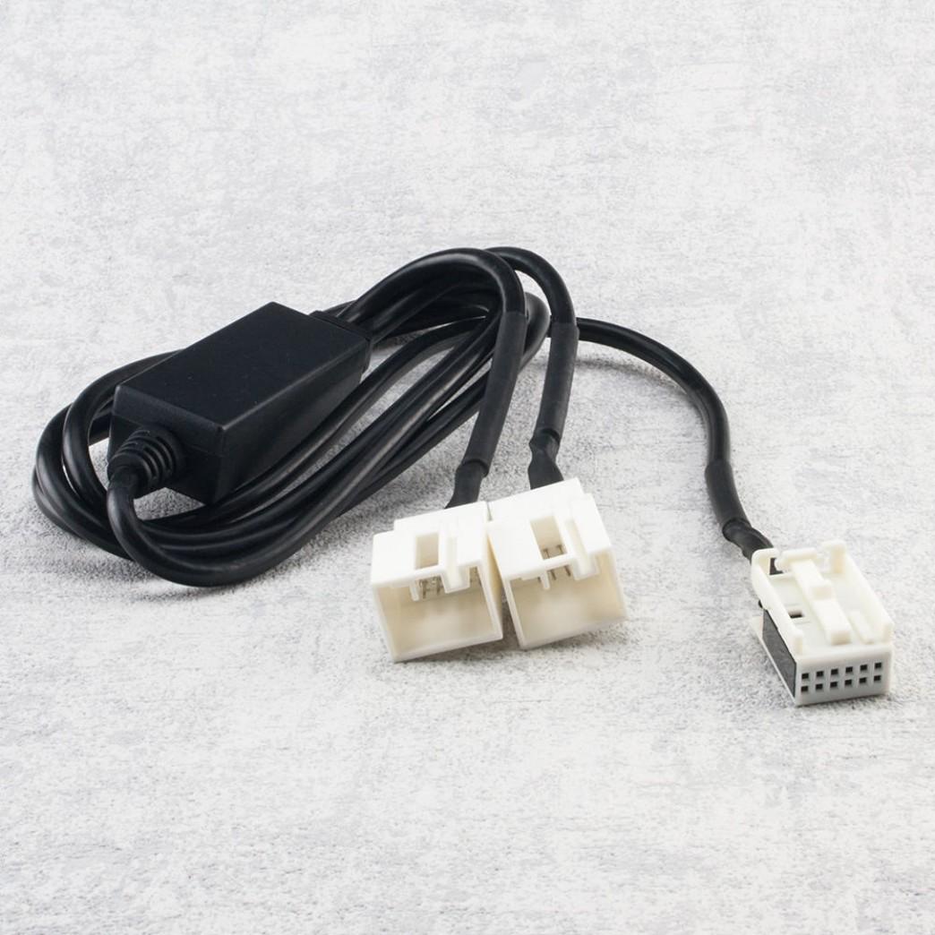 Y-Adapter CD-Wechsler Kabel mit Umschalter für Audi / VW (12pin ...