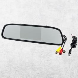 10,9cm / 4,3 Zoll Rückspiegel-Monitor für Rückfahrkameras (schwarz)