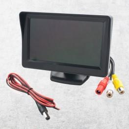 10,9cm / 4,3 Zoll Auto LCD-Monitor mit Montagefuß (schwarz)