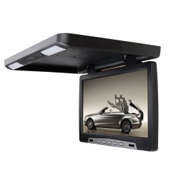 39cm / 15,4 Zoll Deckenmonitor LCD-Monitor Flipdown mit Infrarot (schwarz)