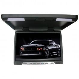 48cm / 19 Zoll Deckenmonitor LCD-Monitor Flipdown mit Infrarot + VGA (schwarz)