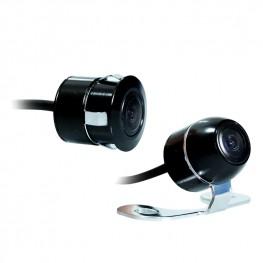 Farb-Rückfahrkamera/Frontkamera mit Distanzlinien (Schwarz), 18mm, 170° Weitwinkel, NTSC, CCD Sensor