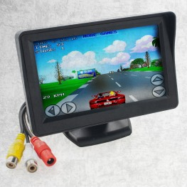 LCD-Monitor 10,9cm / 4,3 Zoll mit Montagefuß Retro-Design