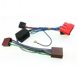 Aktiv System Radio Adapter für Audi / Porsche / Seat / VW mit Teil- & Vollaktivsystemen (Mini-ISO + Strom / auch für BOSE)
