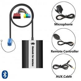 Bluetooth + USB + AUX Adapter mit Kabelfernbedienung für Audi 8pin