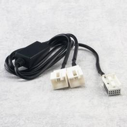 Y-Adapter CD-Wechsler Kabel mit Umschalter für Audi / VW (12pin)