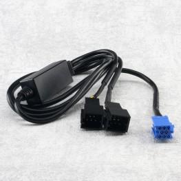 Y-Adapter CD-Wechsler Kabel mit Umschalter für Audi / VW (8pin)
