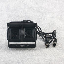 Dual Farb-Rückfahrkamera (Schwarz) für Transporter, LKW, Bus, Caravan, Wohnmobil, Anhänger