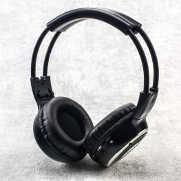 Infrarot Stereo Kopfhörer, 2-Kanal, Funk, Faltbar, Schwarz/Silber, Rund