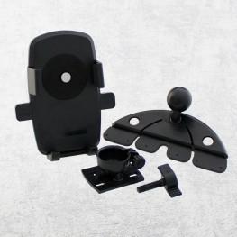 Handyhalter für CD-Schlitz, schwarz