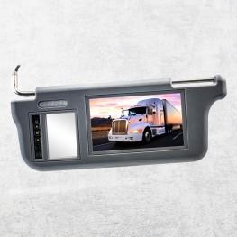17,8cm / 7 Zoll Auto Sonnenblenden-Monitor für Fahrerseite (grau)