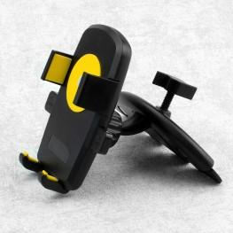 universal Auto Handyhalterung für Smartphone, Handy, Navi etc., schwarz- gelb
