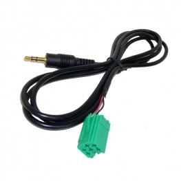 AUX adapter cable Renault Carminat UpdateList Mini Iso green for Mp3