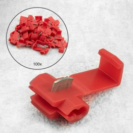 100 pieces branch connector / quick connector RED for cables from 0,5-1mm²