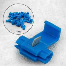 100 pieces branch connector / quick connector BLUE for cables from 1,5-2,5mm²