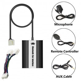 Bluetooth + USB + AUX Interface with cable remote control for Honda Goldwing