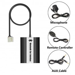 Bluetooth + USB + AUX Interface with cable remote control for Honda