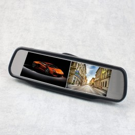 2 x 10.9cm / 4.3 inch Rearview Monitors (Black)