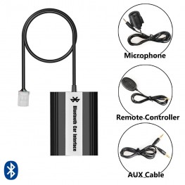 Bluetooth + USB + AUX Interface with cable remote control for Toyota, Lexus 6 + 6Pin