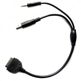 iPhone iPod Dock AUX câble adaptateur USB et de 3,5 mm pour Mini et BMW (Série 1, Série 3, Série 5, Série 6, Série 7, X1, X5, X6, Z4)