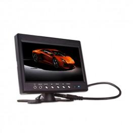 Moniteur LCD de voiture 17,8 cm / 7 pouces avec base de montage / cadre de montage (noir)