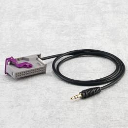AUX câble adaptateur pour téléphone portable MP3 lecteur MP3 PDA mobiles iPhone pour Audi RNS-E