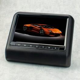 Moniteur pour appuie-tête 22,9 cm / 9 pouces avec DVD, USB, SD (noir)