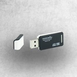 lettore di schede Mini Dual USB per SD / Micro SD / SDHC