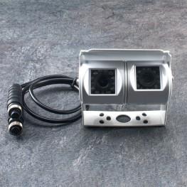 Doppia NTSC Rear View Camera (bianco) per furgoni / camion / bus / roulotte / camper / roulotte