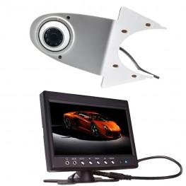 colore Transporter Telecamera posteriori (bianco) + monitor LCD 17,8 centimetri / 7 pollici per i furgoni