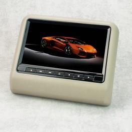 Monitor de reposacabezas de 22.9 cm / 9 pulgadas con DVD, USB, SD (gris)