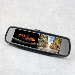 Monitores de retrovisor de 2 x 10.9 cm / 4.3 pulgadas (negro)
