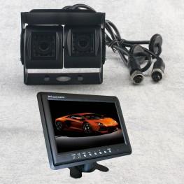 Dual de color Cámara marcha atrás + monitor LCD 22,8cm / 9 pulgadas (Negro) para furgonetas