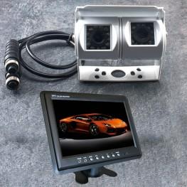 Dual de color Cámara marcha atrás (blanco) + monitor LCD 22,8cm / 9 pulgadas para furgonetas