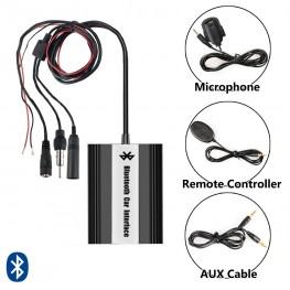 Adaptador Bluetooth + USB + AUX con Adaptador cable Universal para conexión de antena DIN