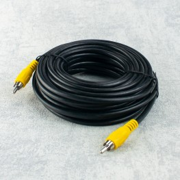 10m coaxial RCA al cable de extensión masculino de RCA, cable video audio 75 ohmios